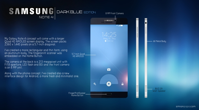 Samsung note 4 concept